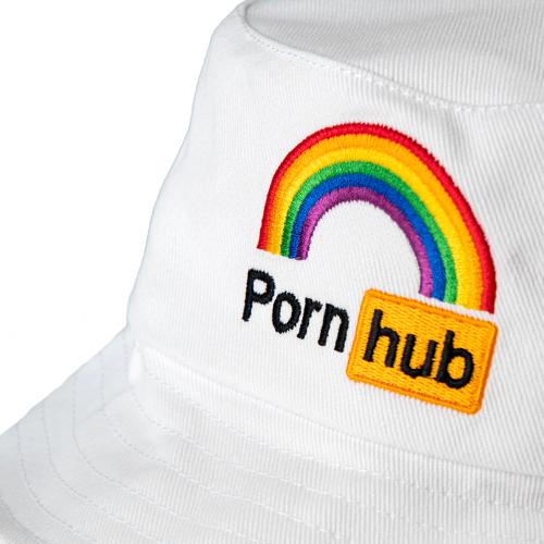Pornhub PRIDE Bucket Hat White 2